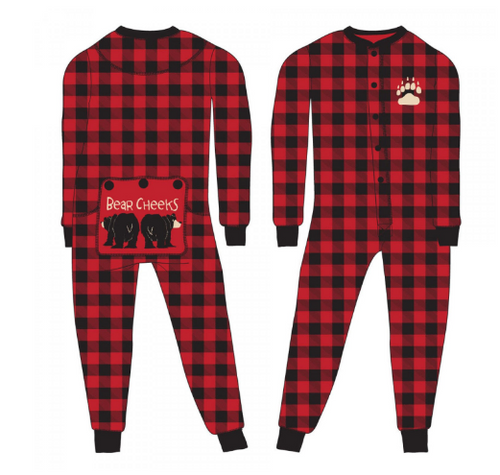 KIDS 2-6 FLAPJACK BEAR CHEEKS PLAID (KFJ126A) (KFJ126A)
