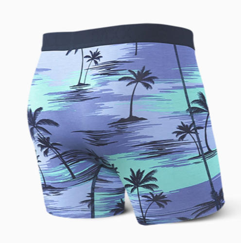 ULTRA BOXER BRIEF FLY - BLUE PALM SUNSET (SXBB30FPLS)