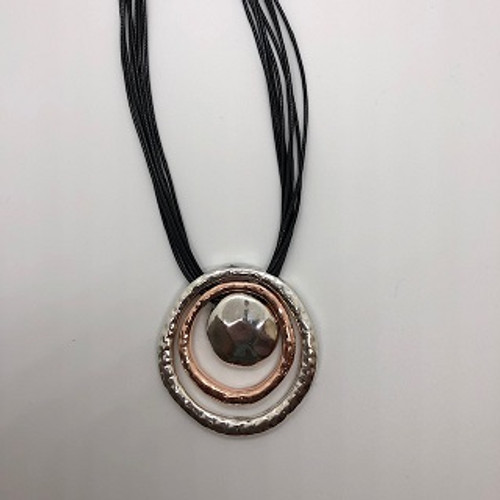 NECKLACE MULTI ROPE STRAND/CIRCLES (NL5215)