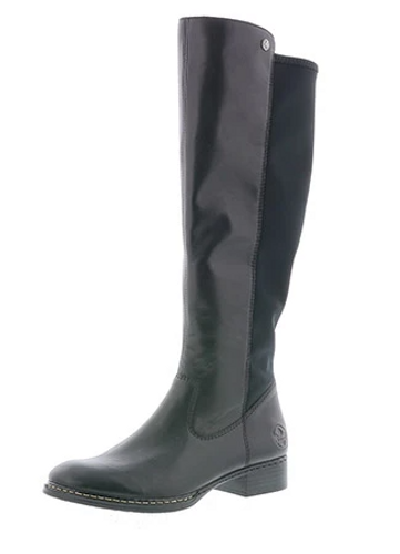 TALL STRETCH BOOT LEATHER BLACK 73490-00