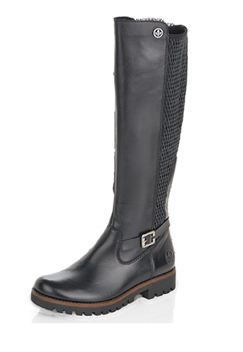 TALL RIDER BOOT LEATHER BLACK 78592-00