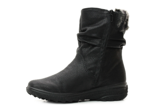 MID WP BOOT RUSHED WITH FUR BLACK Z7088-00