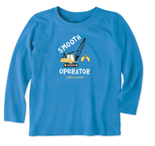 T TODDLER L/S CRUSHER TEE SMOOTH OPERATOR RYLBLU 64431