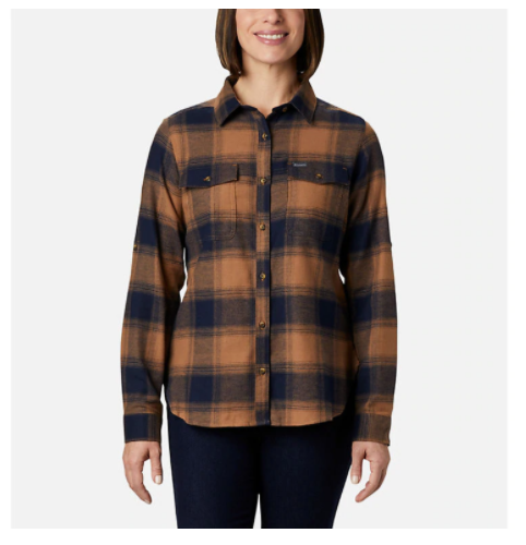 PINE STREET STRETCH FLANNEL BLOUSE (1905801) (1905801)