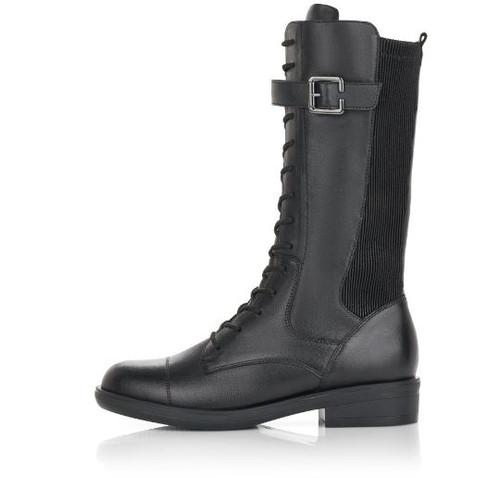 TALL GRANNY BOOT FLAT SDZIP BLACK R4982-01