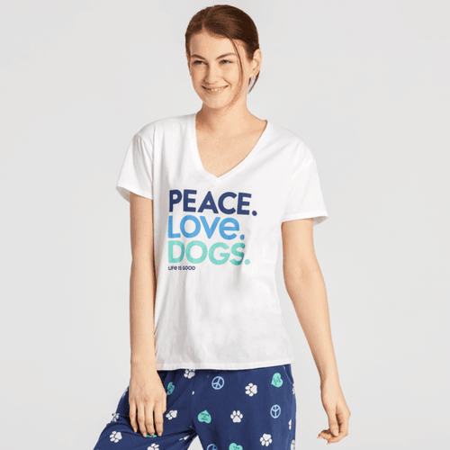 W SNUGGLE UP RELAXED SLEEP VEE PEACE LOVE DOGS (65362) (65362)
