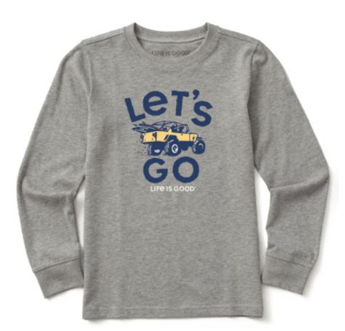 K NEW KIDS L/S CRUSHER TEE LT'S GO 4X4 HTHGRY (65638) (65638)