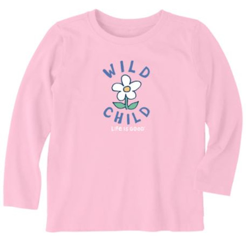 T TODDLER L/S CRUSHER TEE WILD CHILD HPYPNK (65678) (65678)
