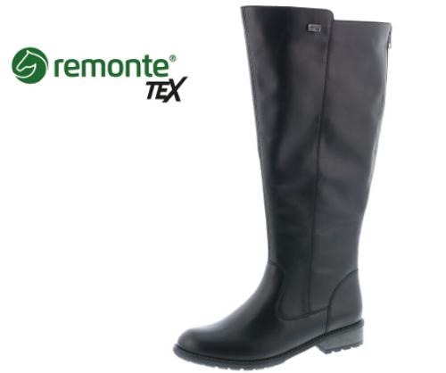TALL BOOT SMOOTH WP BLACK R3311-01