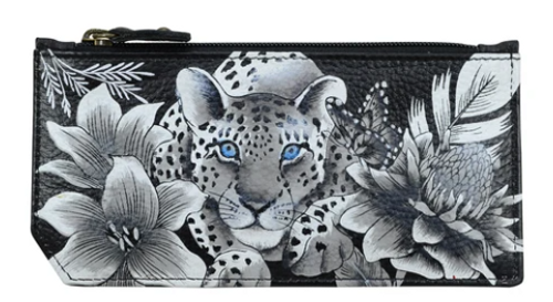 CREDIT CARD CASE WITH ZIP POCKET 1140