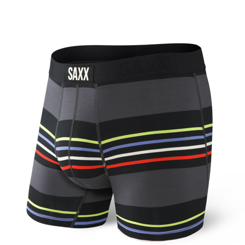 VIBE BOXER BRIEF - BLACK SURF STRIPE(SXBM35UFB) (SXBM35UFB)