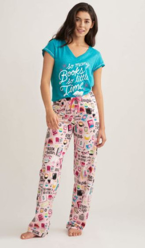 BOOK CLUB WOMEN'S JERSEY PAJAMA PANT PA2BOOK002