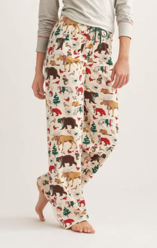 WOODLAND WINTER WOM JERSEY PAJAMA PANT PA2LAND001