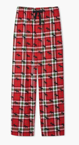 LBH MENS FLANNEL PANTS HOLIDAY MOOSE PAKWIMO209