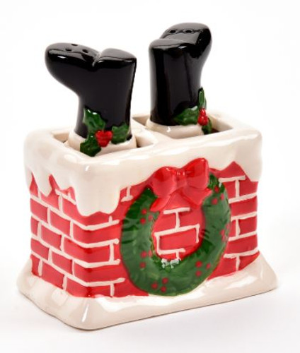 CERAMIC SANTA HEAD SALT & PEPPER SHAKER (659755)