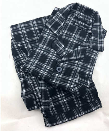 FLANNEL PJ BLACK/WHITE PLAID FPJ20757
