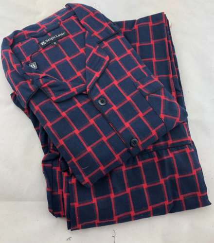 FLANNEL PJ NAVY/RED PLAID  FPJ91752