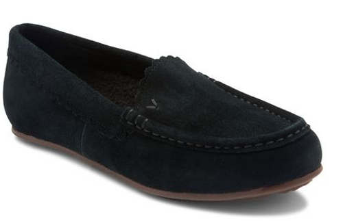 SHEARLING LINED SLIP ON SUEDE MCKENZIE SLIPPER