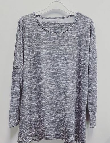 L/S TOP AND LEGGING SET GREY HEATHER L500011