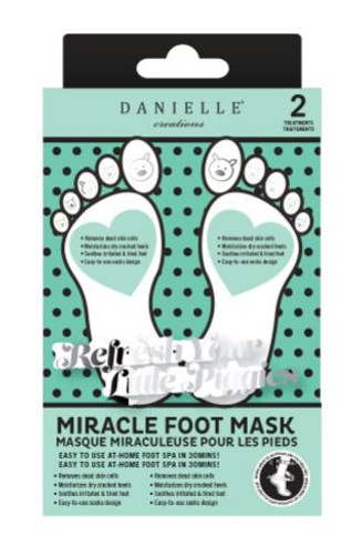2 PK NOURISHING FOOT MASK (D76000)