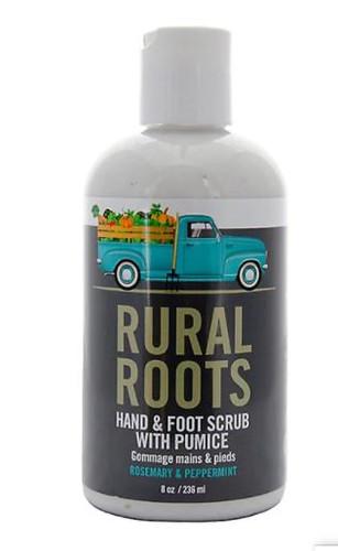 RURAL ROOTS - HAND & FOOT SCRUB W/PUMICE 8OZ (RRHFS)