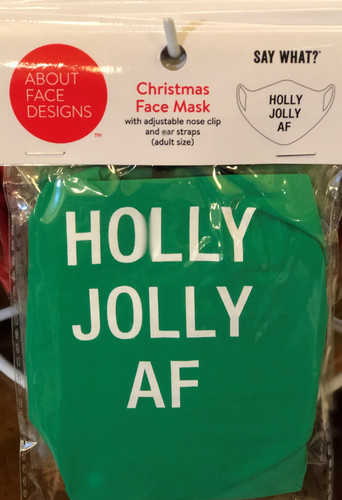 HOLLY JOLLY AF FACE MASK (129664)