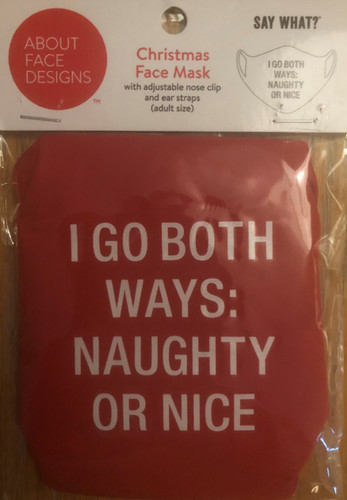 NAUGHTY AND NICE FACE MASK (129661)