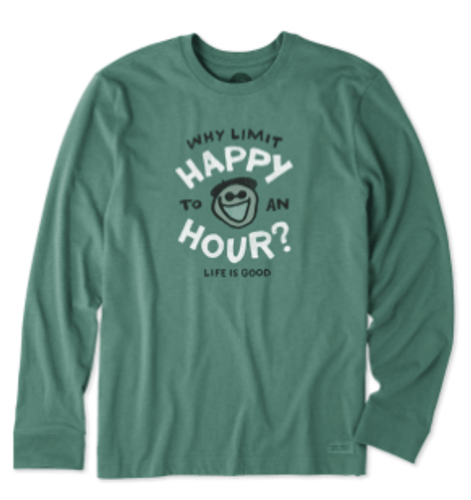 M CRUSHER TEE L/S WHY LIMIT HAPPY (53969)
