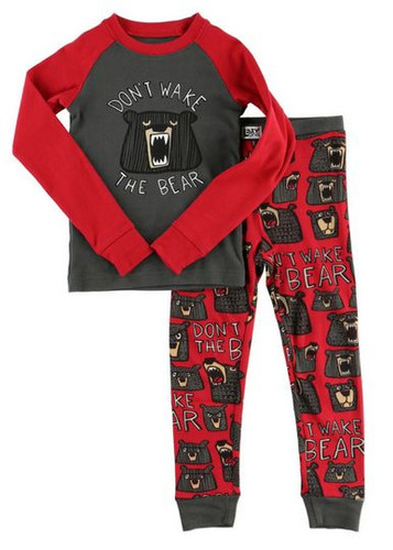 KIDS PJ SET DON'T WAKE THE BEAR  4-10 KID401