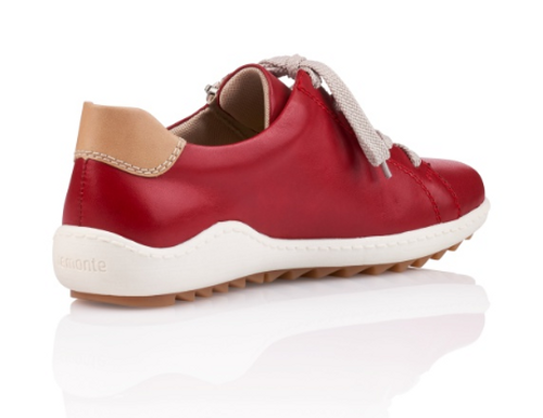 CASUAL TIE SHOE RED R1417-33