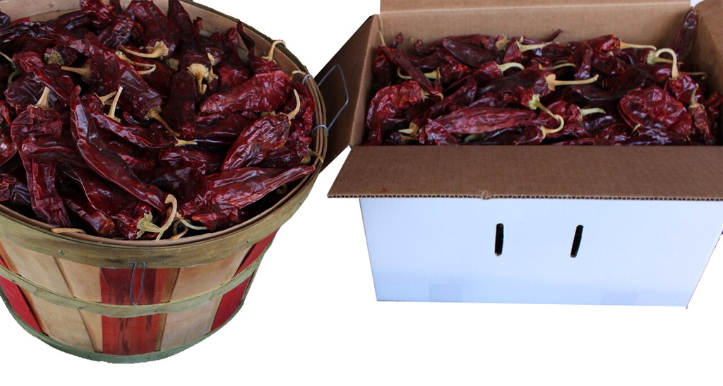 Sichler red chile pods have stems, and seeds. 5 lbs. of not cleaned chile pods yields approximately 2.5 lbs of clean, usable chile. This in turn yields approximately 5.5 pints of red chile sauce per pound of chile.