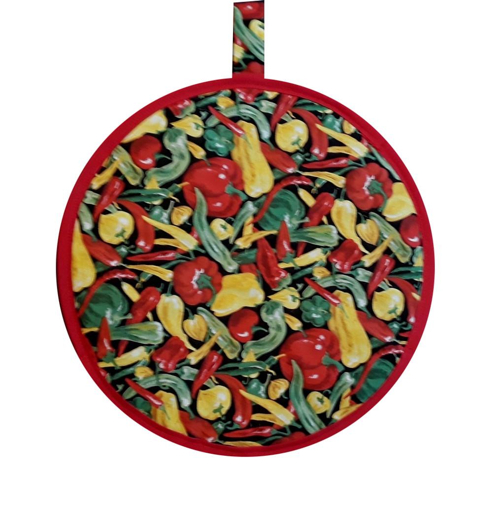 A tortilla warmer - pepper fabric