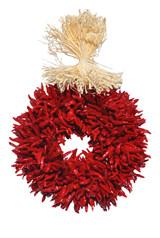"""8"""" Treated Plain Chile Piquin Flatback Wreath"""