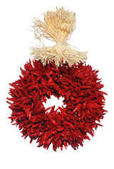 "8"" Treated Plain Chile Piquin Flatback Wreath"