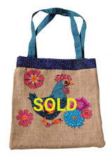 Upcycled Tote Bag - Chicken