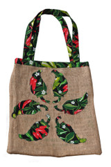 Upcycled Tote Bag - Chiles
