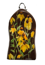 Cone Flower painting on a vintage part of a shovel found in the Glorietta, NM area.