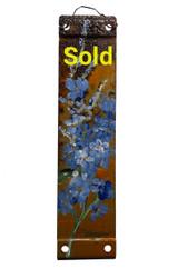 Vintage Metal Painting - Blue Wildflowers