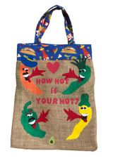 Upcycled Tote Bag -  Hot is your Hot