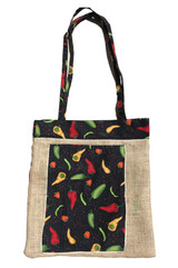 Upcycled Tote Bag - Hot chiles
