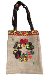 Upcycled Tote Bag - Circular Hearts
