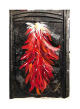 Vintage Metal Painting - Ristra number 2