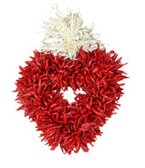 "8"" Treated Flatback Plain Chile Piquin Heart Wreath"