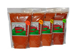 Our chile powder comes in four temperatures - X -Hot, Hot, Medium, and Mild.