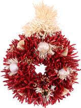"12"" Treated Decorated Flatback Chile Piquin Wreath"