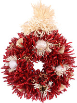 "12"" Treated Decorated Flatback Chile Piquin Wreath"