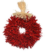 "12"" Treated Plain Flatback Chile Piquin  Wreath"