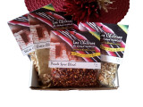 This is a great holiday treat from New Mexico.  It contains either a 1oz. pkg. of green chile powder, or 4oz. of red chile powder, either 12oz. of blue corn posole or white corn posole and a pkg. of posole spice blend and 5 oz. pkg. of chicos.
