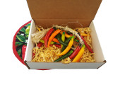 The multi-colored pepper strand makes a great gift.  The gift box is optional.  It can be added on.
