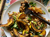 Chile roasted winter squash with chicos